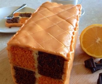 Chocolate & Orange Battenberg Cake