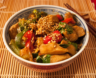 Thailändisches, rotes Chicken-Curry