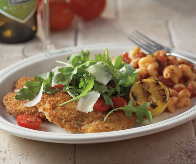 Parmesan Crusted Chicken Arugula