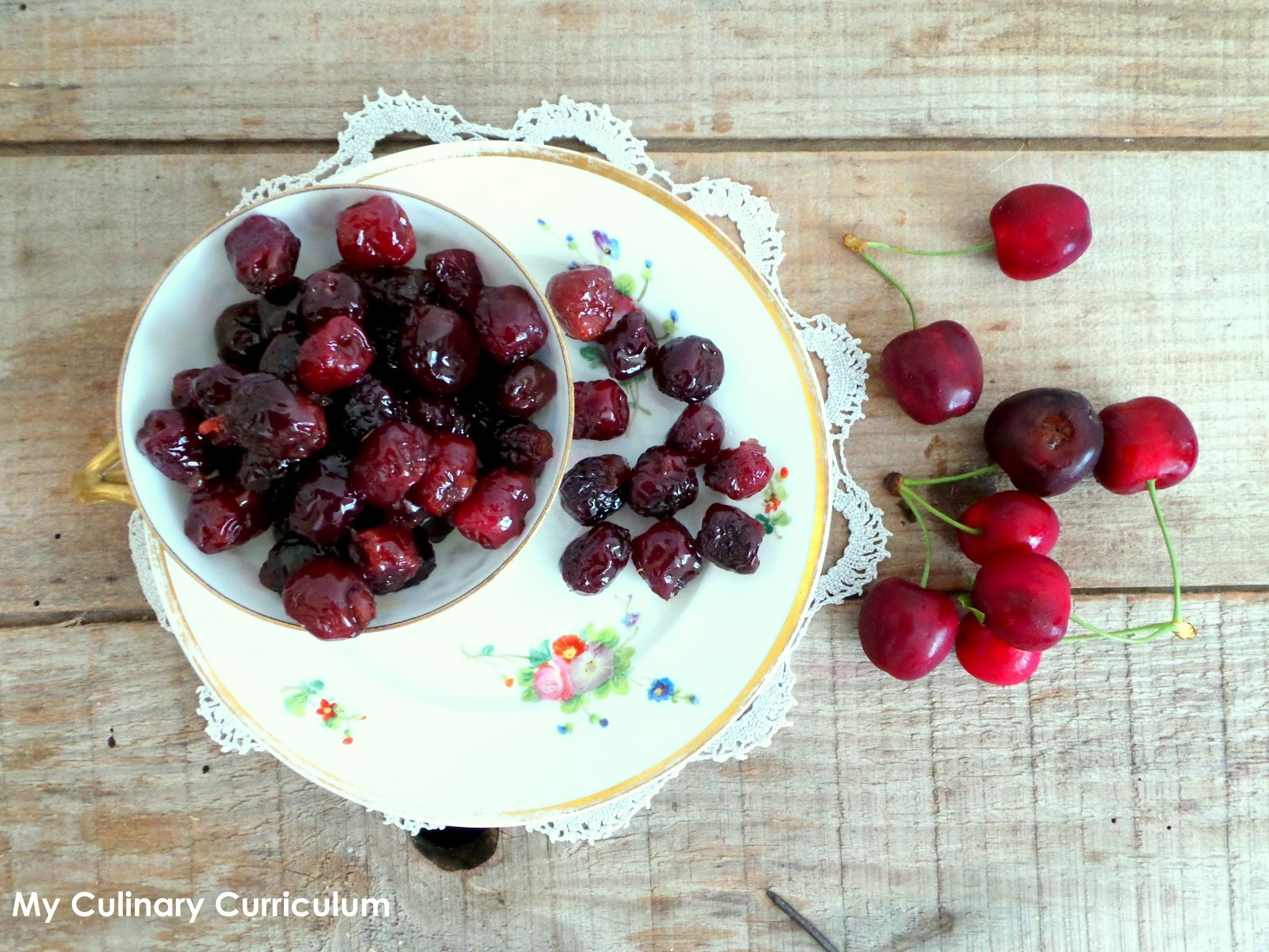 Cerises confites maison (Homemade candied cherries)