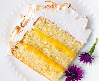 Orange Chiffon Cake with Orange Filling and Meringue