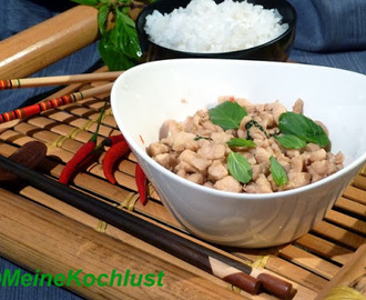 Hühnerbrust mit Chilis – Pad Kee Mao Gai - chicken breast with chilis