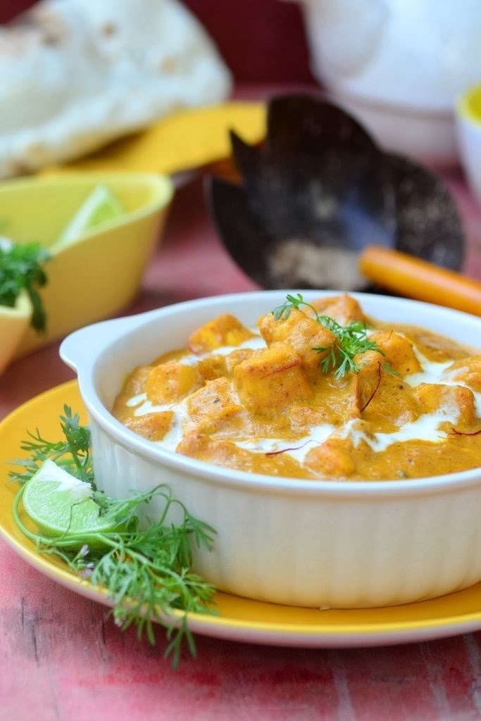Shahi Paneer \ Indian Cottage Cheese Cooked in a Rich Creamy Gravy