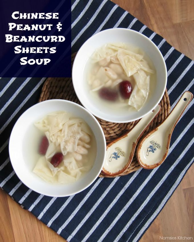 Chinese Peanut and Beancurd Sheets (Foo Chuk) Soup