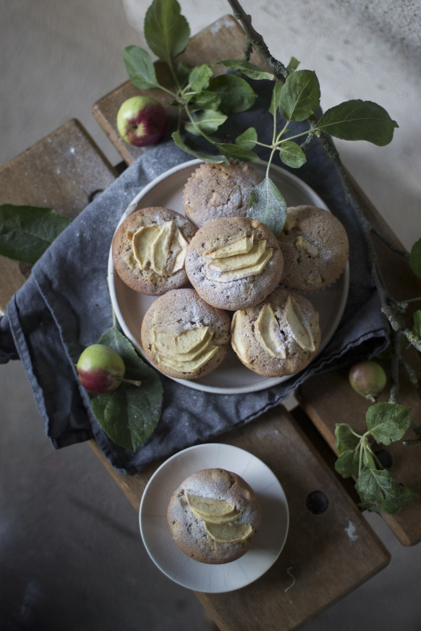 glutenfree apple marzipan muffins