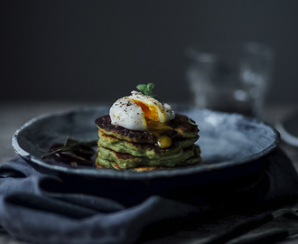 glutenfree avocado pancakes with poached egg & GIVE AWAY