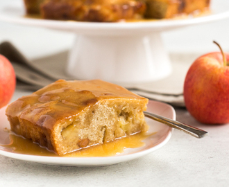 Toffee apple blondies