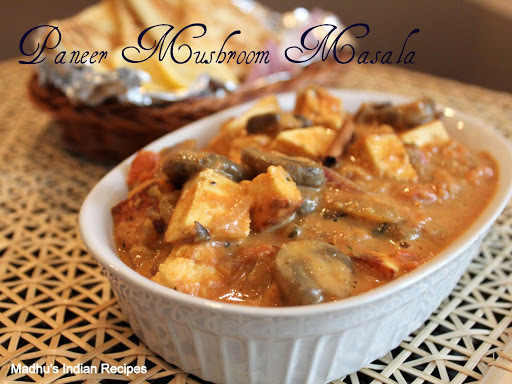 Paneer Mushroom Masala | North Indian curry Recipe