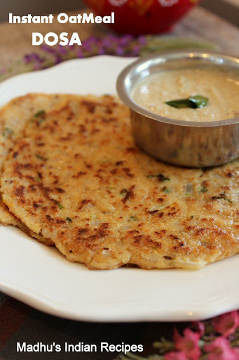 Instant OatMeal Dosa | Indian Oats Recipes