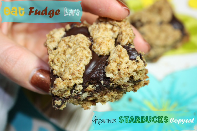 Oat Fudge Bars {Healthier Starbucks Copycat}