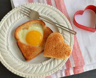 Valentine Heart-Shaped Egg in Toast