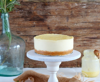 Cheesecake chocolate blanco con lime curd (sin horno)