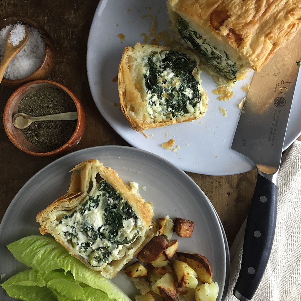 Spinach Ricotta and Feta Pie