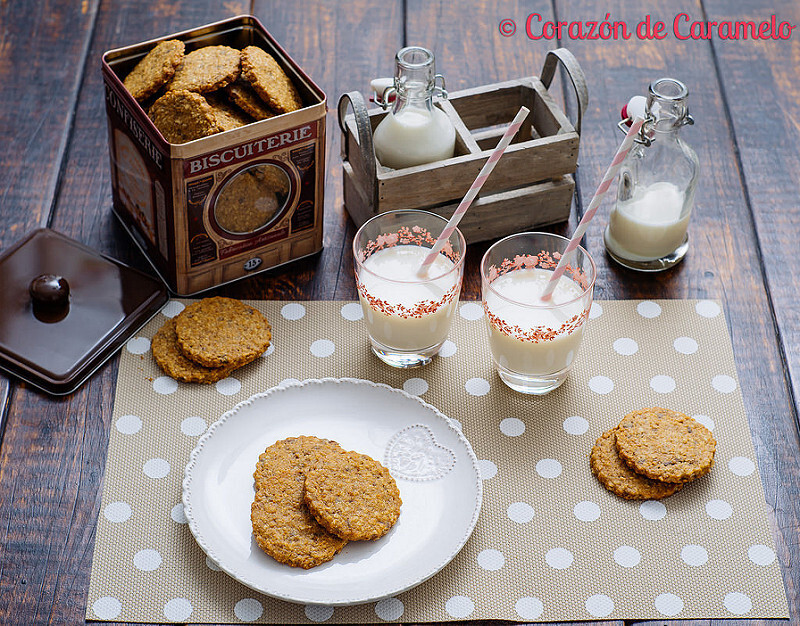 Galletas integrales de Avena con Chocolate