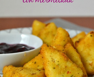 Quesitos fritos con mermelada