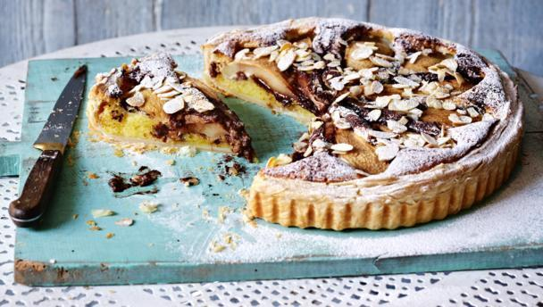 Pear Frangipane (marbled with chocolate)