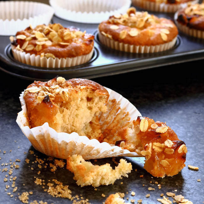 Caramelised Apple and Maple Syrup Muffins