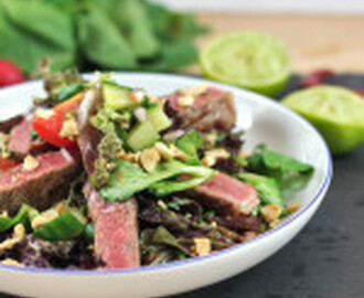 recipe: Steak with Asian Style Spicy Salad