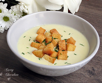Crema de calabacín con queso curado – Zucchini cream soup with cheese