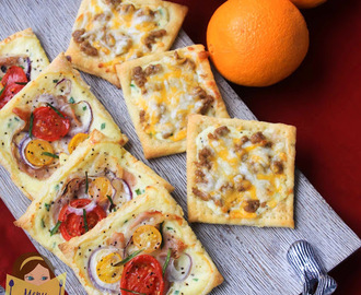 Puff Pastry Breakfast Pizzas