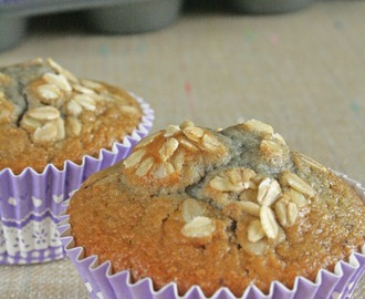 Muffin con mirtilli e fiocchi d'avena / Muffin with blueberries and rolled oats