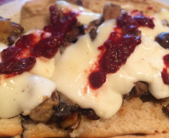 Polish Mushroom Bread with Spicy Ketchup
