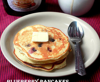 BLUEBERRY PANCAKES | EASY PANCAKES RECIPES | BLUEBERRY RECIPES