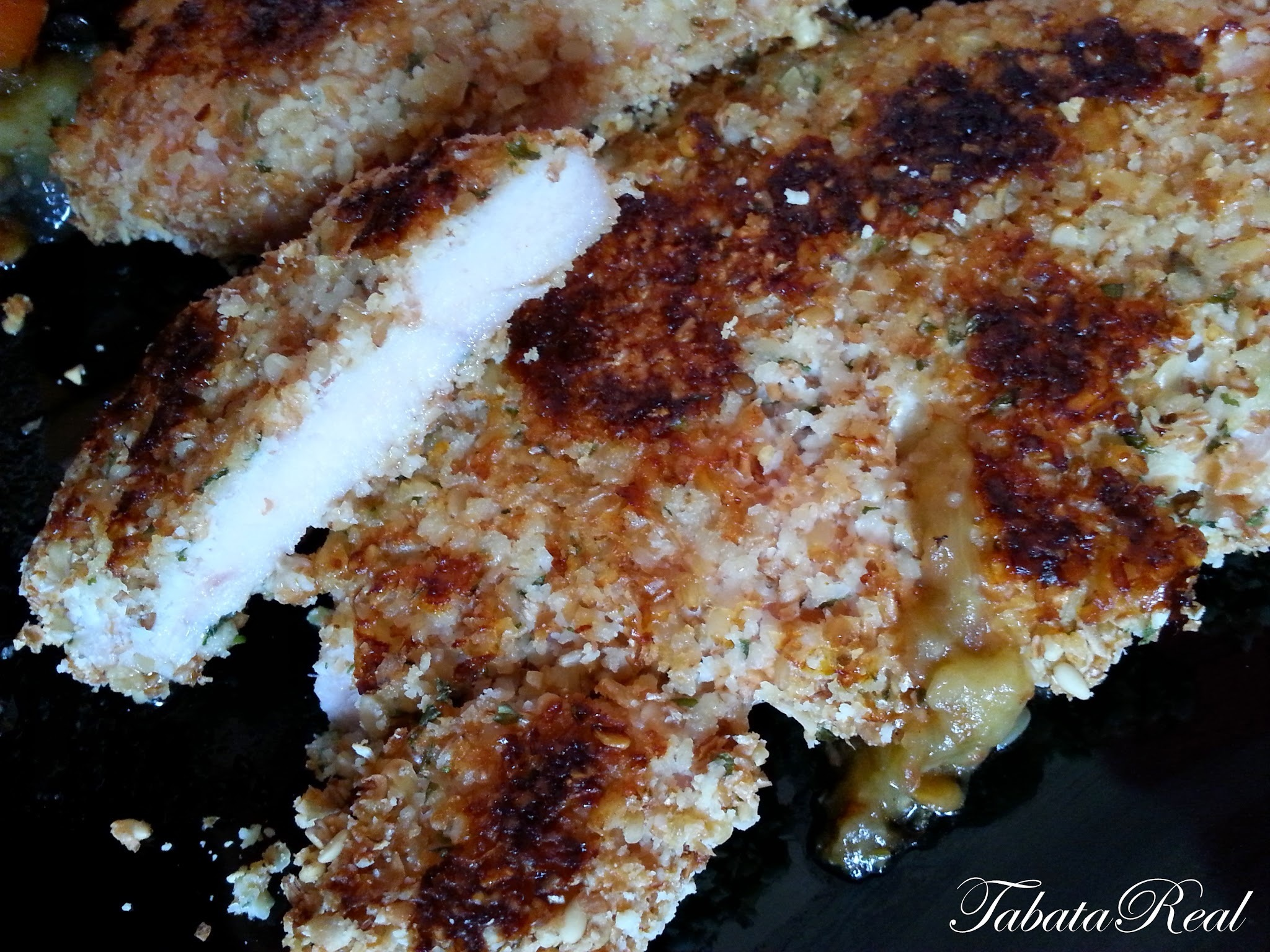 Receta / Ricetta PECHUGAS REBOZADAS sin FREIR!! (Light Version)