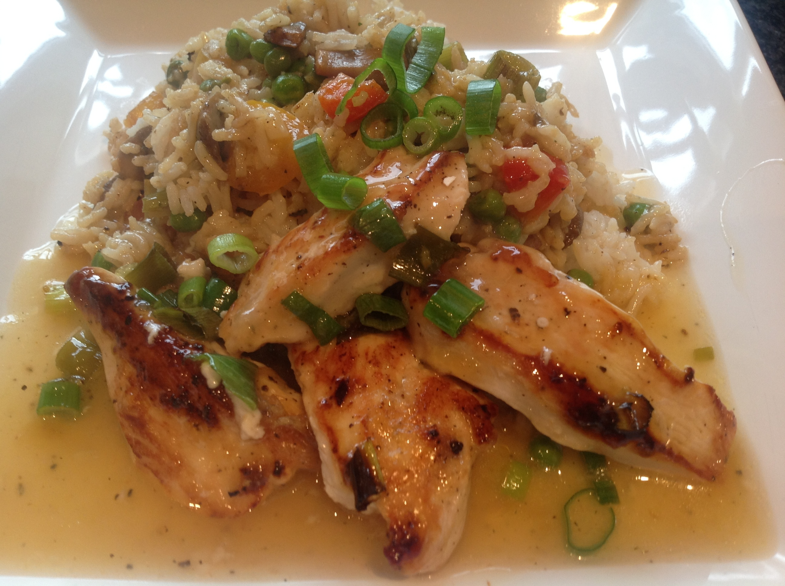 Lemon Chicken  with Egg Fried rice