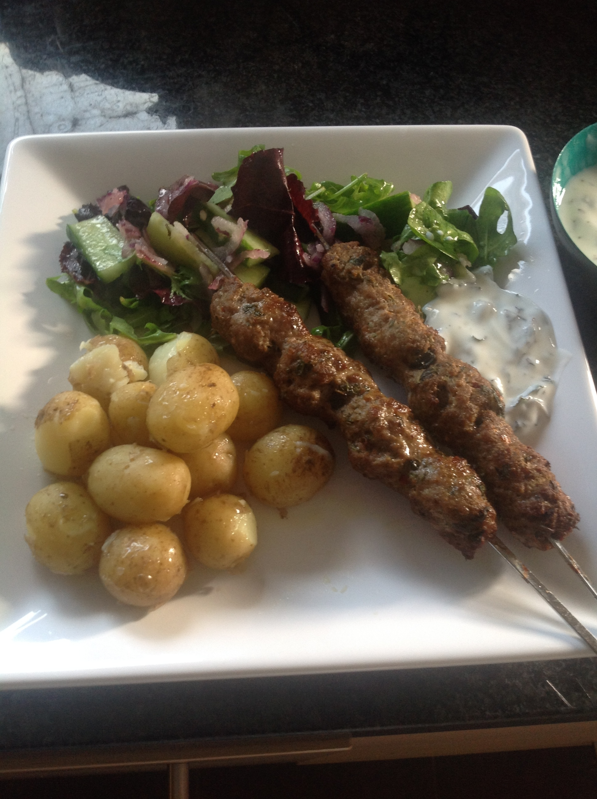 Spicy Lamb Koftas with Yoghurt and Mint