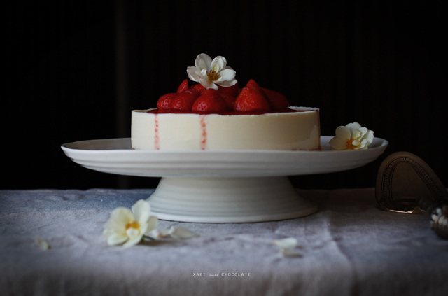 Cheesecake de Chocolate Blanco y Fresas (sin horno)