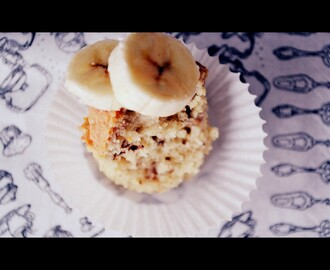 Muffiny bananowe z czekoladą | Banana muffins with chocolate