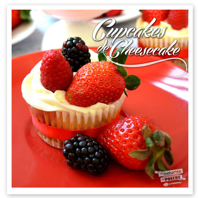 CUPCAKES DE TARTA DE QUESO CON FRUTOS ROJOS / RED BERRIES CHEESECAKE CUPCAKES