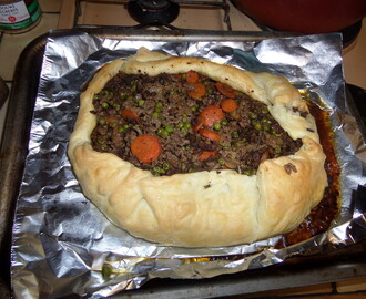Madhouse recipe : Mince & Veg Open Puff Pie