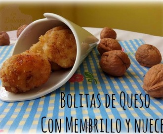 Bolitas de Queso con Membrillo y Nueces