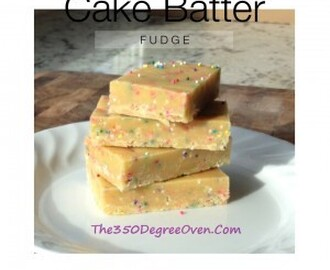"Cake Batter Fudge aka ""Birthday Cake Fudge"" (No bake recipe, made with boxed cake mix)"