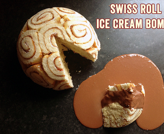Swiss Roll Ice Cream Bombe : RECIPE