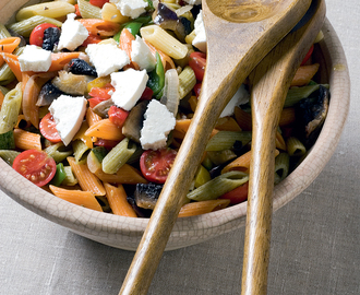 Penne salad with Summer roast vegetables