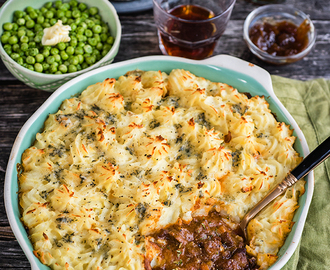 Cottage pie with Stilton Mash in partnership with Red Tractor