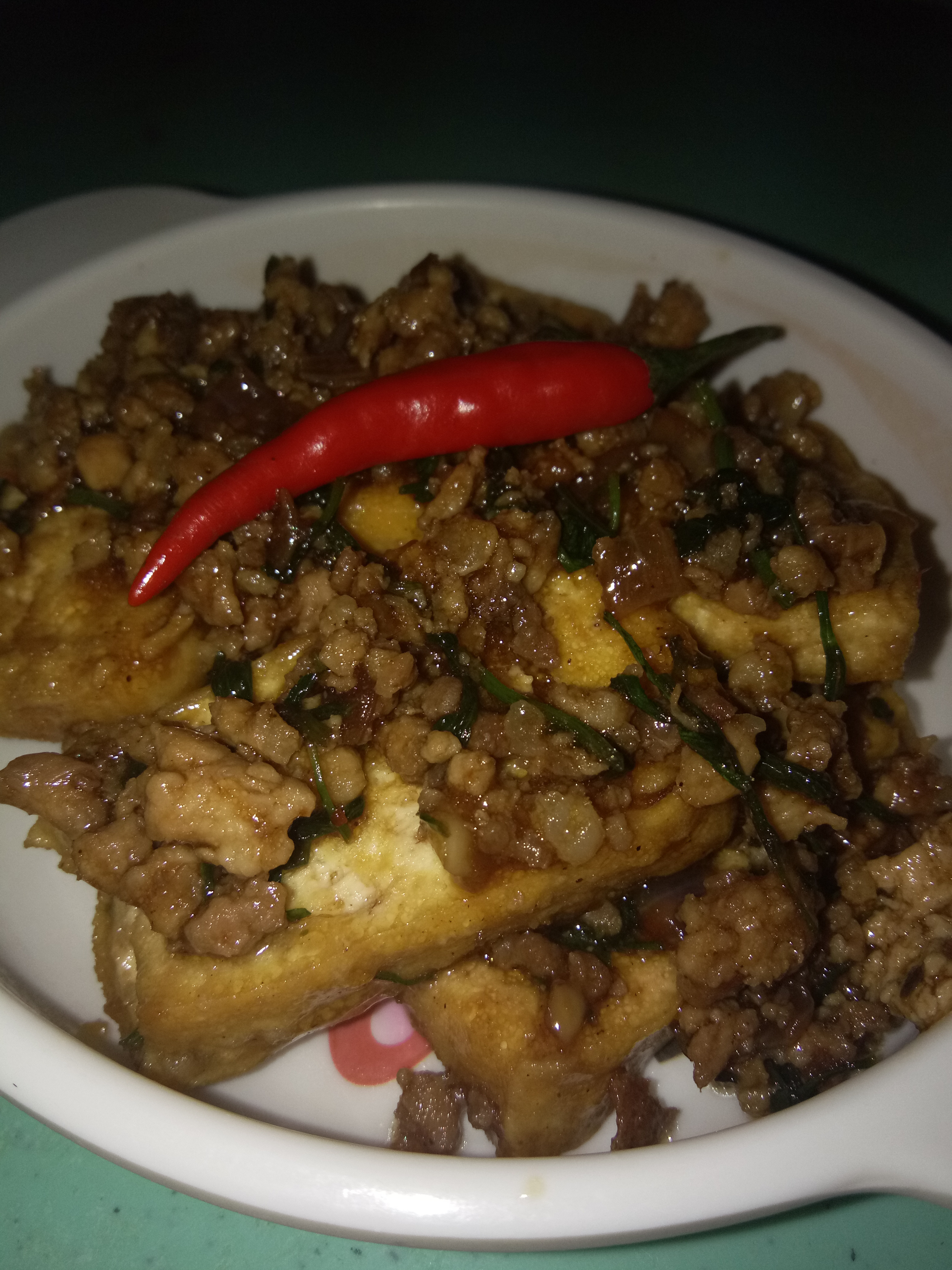 Mamang Julie's Tofu & ground pork in oyster sauce :)