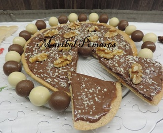 Pizza integral de nutella.