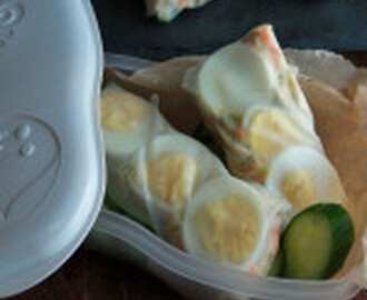 #SundaySupper: Eggy Rice Wraps