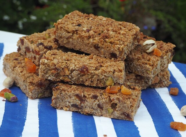 Pistachio and Apricot Flapjacks