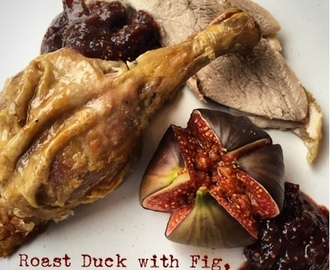 Roast Duck with Fig, Port and Star Anise