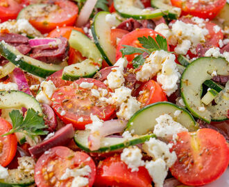Best Greek Salad Recipe - How to Make Greek Salad