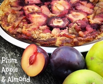 Plum, Apple & Almond Tarte Tatin for the Expedia World on a Plate Challenge