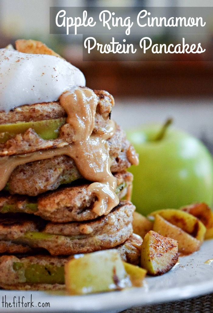 Cinnamon Apple Ring Protein Pancake Possibilities #ProteinPantry