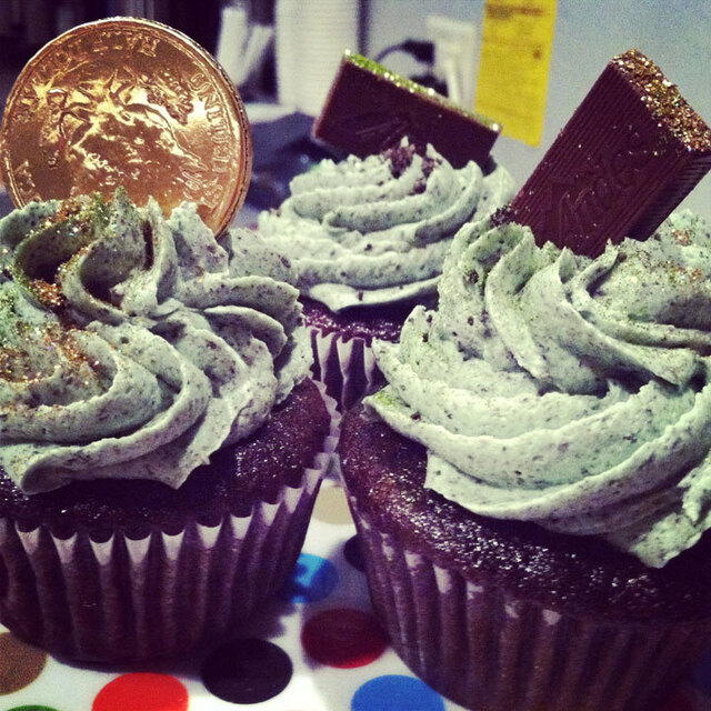 Chocolate Oreo Andes Mint Cupcakes!