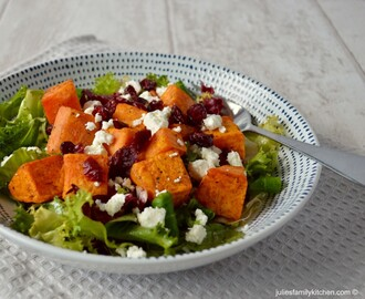 Roast Sweet Potato and Feta Salad (plus A Salad for all Seasons by Harry Eastwood giveaway)