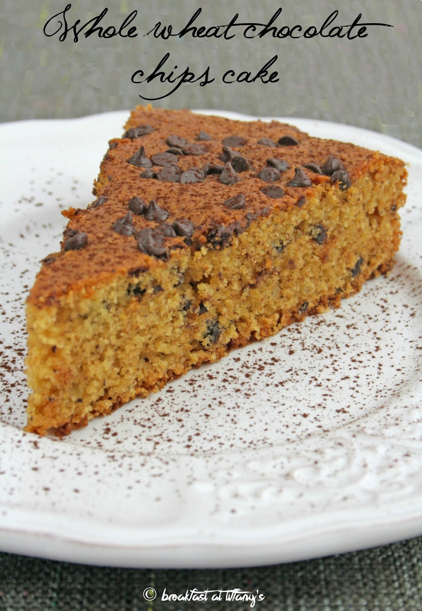 Torta integrale al cioccolato / Whole wheat chocolate chips cake